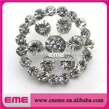 Garment Accessories wholesale Circle Shape Rhinestone Button