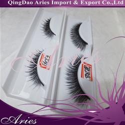 High quality natural nude makeup lengthening double layer single false eyelashes