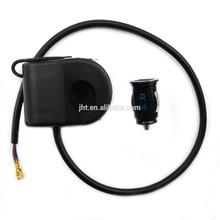 Jtron Waterproof Motorcycle USB Charger Cigarette Lighter - Black (12V)