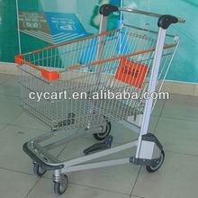 Airport 4 wheel 150L shopping aluminium trolley/cart, elderly shopping with seat