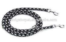 Reflective Nylon Braided Dog Leash with Two Hooks