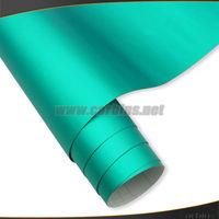Matte chrome ice film , Tiffany blue matte chrome vinyl film for vehicle wrapping ,1.52*20m