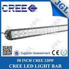 "50"" 220w water proof led lights bar, lightstorm offroad driving lamp led light bar, 220w led light bar cree"