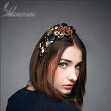 novelty design hair fascinators decorate with button for party