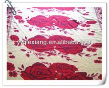 China factory direct manufacturer pleuche velvet/blanket fleece blanket/bed sheet