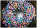 Loom bandes élastiques couleur arc - en -