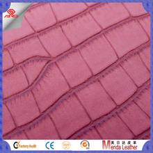 AB686 Crocodile skin embossed yangbuck glove pu leather