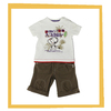 2014 baby boy cartoon imager print white t shirt with microcanvas short pants