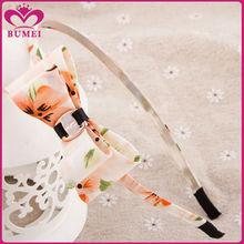 Yiwu supplier fabric bow cute cheap headbands