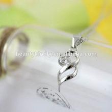 S925 sterling silver eight heart eight arrows zircon female Necklace Pendant angel wings