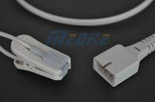 nellcor adult ear clip sensor, 7 pins reusable spo2 sensor ear clip pulse sensor