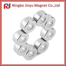 Ni-Cu-Ni, Nickel, Zn, Gold, Silver, Copper, Epoxy Ring Permanent Neodymium Magnet