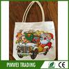 2014 christmas design gift cotton canvas tote bag