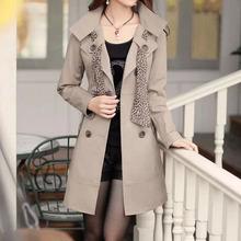 NZ3104 street style women long overcoats fashionable winter coat plus size trench coat