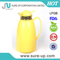 2014Practical plastic outer glass liner travel coffee pot transparent ring water jug(JGCD)