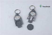 Plastic Euro Token with keychain