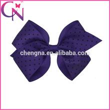 Mini Polka Dot Hair Bow With Clip Grosgrain Ribbon Hair Bow With Clip