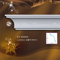 Green high quality polyurethane Cornice Plain /Carving Moulding Decoration products