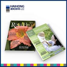 Flower glossy magazine printing
