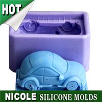R0698 soft 3d silicone car soap moulds
