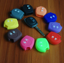 Suzuki car key case silicone car key cover for Suzuki with different colors for optional