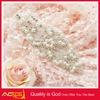 beaded applique use for wedding dress/handmade rhinestone trim hot fix cooper metal studs