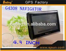 new 4.3'' car dvd gps 4gb memory car gps navigator