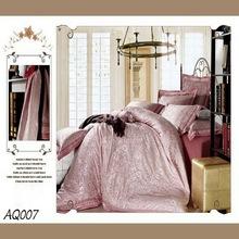 new design silk/cotton elegant comforter and curtain sets