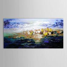wall art hand paint purple abstrect canvas art