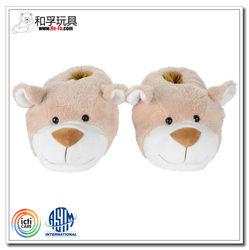 Custom personalized comfortable cute plush teddy bear shoes