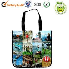 zipper pp woven bags,bopp laminated pp woven bag,PP cute non woven shopping bag green