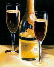 classical painting wine glass painting on canvas 05-01048