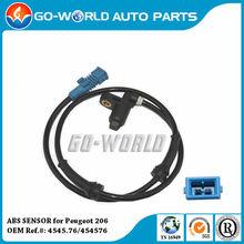Brand New, High Quality ABS Wheel Speed Sensor (ABS SENSOR) for Peugeot 206 OEM 454576/ 4545.76