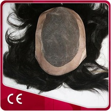 Toupee Hair Replacement Wig With invisible knot V-loop