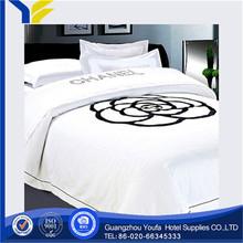 plain dyed Guangzhou stripe 16mm 100% silk bedding set dark blue colour