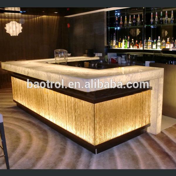 Modernes restaurant bartheke design, leuchtende led tresen ...