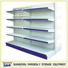 double sides slat backboard supermarket shelf