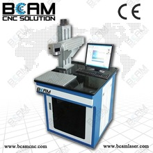 Laser marking for automatic laser button machine