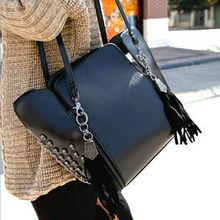 D14989A 2014 spring or summer shoulder bag ,skull tassel shoulder bag for women