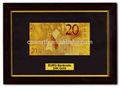 золотой фольги банкнот евро 20 eypo хороший репродукции ремесел золотой фольги счета набор с черной изысканные деревянные рамки для сбора