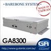 GA8300 barebone fanless system industrial pc case