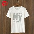 Máquina de carimbar t-shirts / chegada nova OEM homens crew confortável pescoço de impressão camiseta
