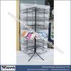 Rotating Metal Wire Audio-video CD Rack Display Shelf