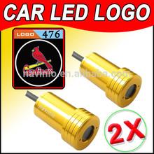 2014 car Ghost Shadow Light LED for St. Louis Cardinals MLB Baseball Laser Welcome Door Light Badge Logo 3D 12V 5w golden