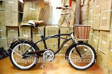Mini beach cruiser bike for lady/black color beash cruiser bike OEM accept