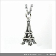 fashion top quality jewelry stainless steel eiffel tower pendant (15)