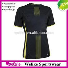 Grade original jersey 14/15 club black soccer uniform guangzhou garment factory