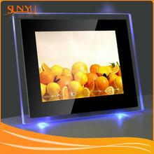 Design fashion acrylic photo frame insert clock