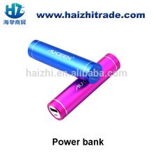 Wholesale cheap metal cylinder mobile power bank gift 2600mah