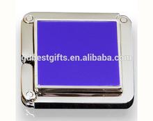 Custom logo foldable square purse hook